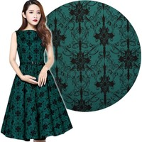 Chic Star Green Printed Sleeveless Swing Dress| Rockabilly | Pin Up