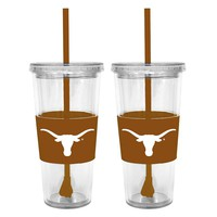 Texas Longhorns 2-pc. Double-Walled Straw Tumbler Set (Tex Team)