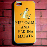 Iphone 5 Case, New iPhone 5 case Keep calm and Hakuna Matata iphone 5 Cover, iPhone 5 Cases, Case for iPhone 5
