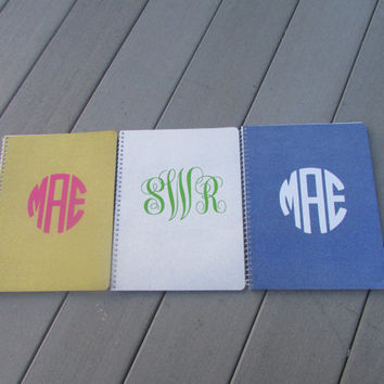Monogram Glitter Notebook for College, High School, or Just Cause!