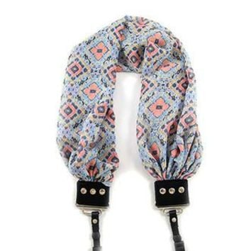 Mosaic Tile Scarf Camera Strap - Capturing Couture - CASCARF-MOTL