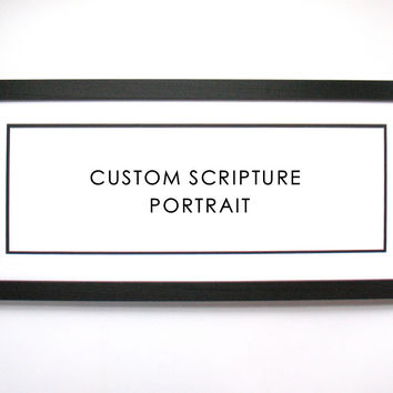Custom Scripture Portrait