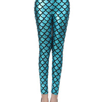 Nightclub Stage Fish Scale Ripple Leggings