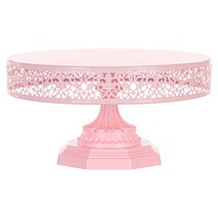 12 Inch Round Metal Wedding Cake Stand (Pink)