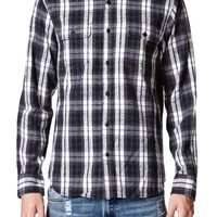 On The Byas Paul Multi Plaid Long Sleeve Woven Shirt - Mens Shirt
