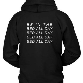 ICIK7H3 Zayn Pillowtalk Quote Bed All Day Hoodie Two Sided