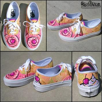 Sprinkle Toes Hand Painted Vans Authentic Shoes