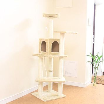 "New BestPet 60""Cat Tree Condo Furniture Scratch Post Pet House"