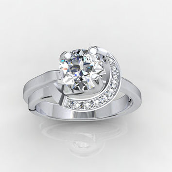 Roundly  Engagement Ring 3D CAD - JT16
