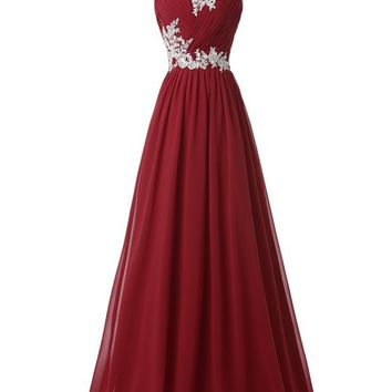 Sweetheart Long Ball Gowns Red Full Length Size 4 CL6107-4