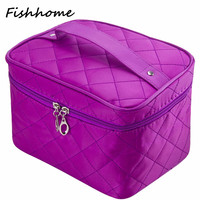 Professional Cosmetic bag Female Thread cosmetic box women large capacity storage handbag travel toiletry makeup organizer ZWH01