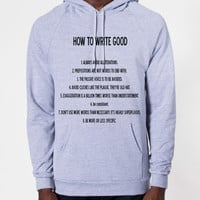 How To Write Good Hoodie Sweatshirt (Unisex) | CrewWear