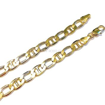 5mm Gucci Figaro Link 18kts of Gold Plated Chain