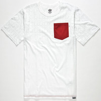 Adidas Gonz Mens Pocket Tee White  In Sizes