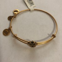 Disney Alex and Ani Parks Minnie Slider Bracelet Bangle Gold Finish New With Tags