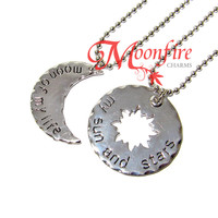 GAME OF THRONES Moon of My Life My Sun and Stars Couple Necklace