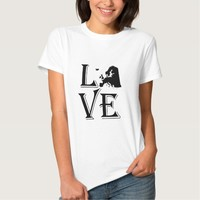 Love Europe Continent T Shirts