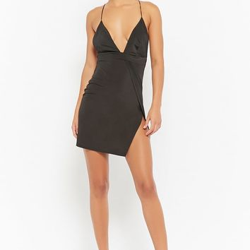 Plunging Halter Dress