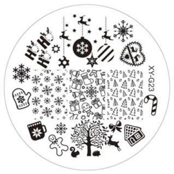Christmas 1PC Fashion DIY Polish Beauty Nail Art Image Stamp Stamping Plates 3D Nail Art Templates Stencils Manicure Tools