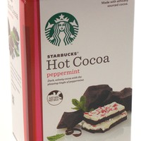Starbucks Hot Cocoa Peppermint 8 1oz Packages Mix Just Add Hot Milk