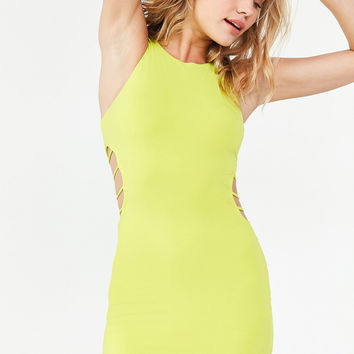 Silence + Noise Strappy Cutout Bodycon Dress | Urban Outfitters