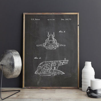 Slave One, Slave 1, Star Wars Slave One, Star Wars Poster, Starwars Poster, Star Wars Nursery,Star Wars Printable,Starwars, INSTANT DOWNLOAD
