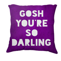 Retro Inspired Home Decor,  Gosh, Darling  Typography Throw Pillow, Expressions for The Home
