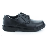 Gary Black Pu By Jelly Beans, Children Girls Round Cap Toe Lace Up Dress Shoes