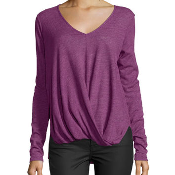 Verlinn V-Neck Blouson Top, Current, Size: