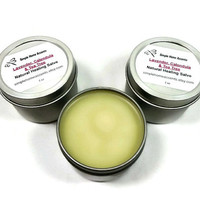 Lavender, Calendula and Tea Tree Salve, Natural Salve, Skin Balm, Gift under 10