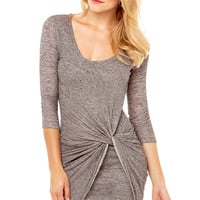 Knot Me Up Dress in Grey