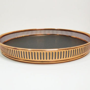 Vintage Coppercraft Guild serving tray - Copper bar tray Butler tray Bar serving tray - Cocktail serving tray