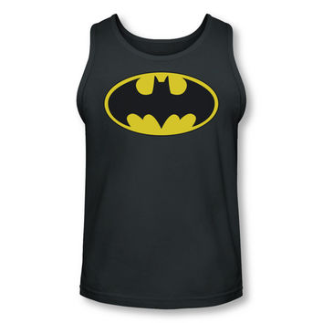 Batman Logo Adult Gray Tank Top