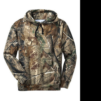 Russell  Real Tree Camo Pullover Sweat Shirt Hoody Real Tree Hoody