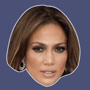 Bored Jennifer Lopez Mask - Perfect for Halloween, Costume Party Mask, Masquerades, Parties, Festivals, Concerts - Jumbo Size Waterproof Laminated Mask
