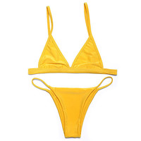 New Brazilian Sexy Women Micro Bathing Suits With Halter Strap Swimwear Brazilian bikini Set