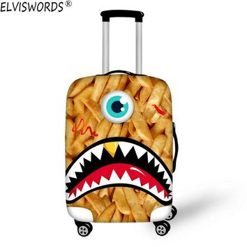VONG2W ELVISWORDS 2017 New Durable Luggage Protective Cover Funny Emoji 3D Printing Travel Luggage Cover Suitcase Protective Cover Case