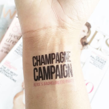 Temp Tattoo - Champagne Campaign