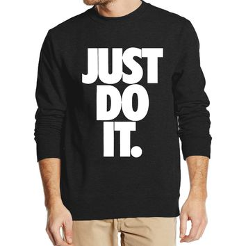 ca qiyif Just Do It Cotton PulloveR