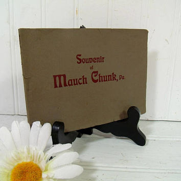 Souvenir of Mauch Chunk, PA - Colorized Art Sketches Memento Booklet - Early Jim Thorpe, PA Historic Pictures - Coal Mining Country History