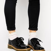 Monki | Monki Toma Black Brogue Flat Shoes at ASOS