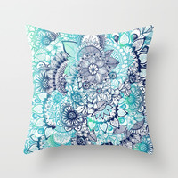 Hippie Vibes Throw Pillow by rskinner1122