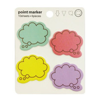Wrapables Colorful Thinking Bubble Post-It Sticky Notes