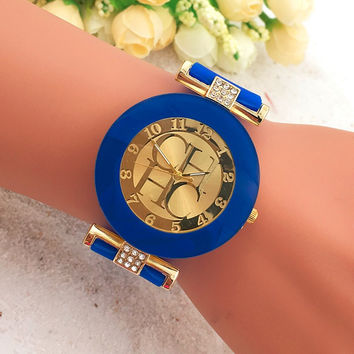 2016 Hot Fashion luxury Brand Women Watches 10 colors silicone quartz watches Geneva dress watch relogio feminino