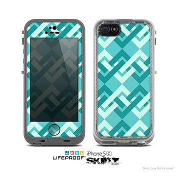 The Locking Green Pattern Skin for the Apple iPhone 5c LifeProof Case