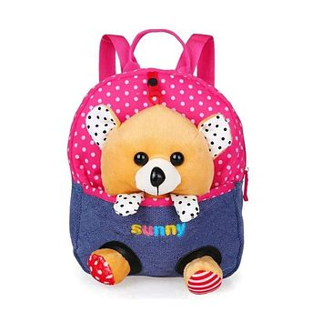 Cartoon Kid School Backpack For Child School Bag For Kindergarten Girl Baby Student School Boy Cute bear Backpack Book Bag BB43