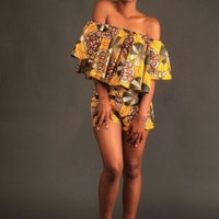 Nyasha off shoulder shorts set