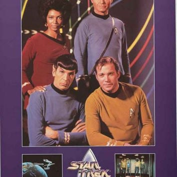 Star Trek 25th Anniversary Cast 1991 Poster 24x36