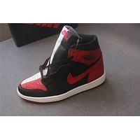 "Air Jordan 1 ""black red white "" 40-47"