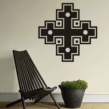 CREYHY3 Combination Of Four Cross Tapy Decorative Stickers  Muslim Culture Wall Stickers Home Decoration